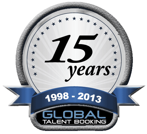 Celebrating 15 years of Global Talent Booking Agency Experience